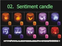 ^ v ^ Freeshipping_50pcs/lot Christmas candle gift,Sentiment LED Candle light,Voice control Candle,halloween decoration