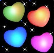 Free shipping! Love heart-shaped LED night lamp/light, wedding party, christmas, festival, valentine's day, parties DIY