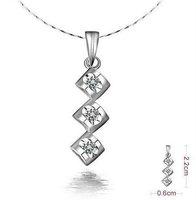 Hot sale-18k platina diamond necklace,platinum wedding necklace pendant,engagement necklace,women diamond necklace free shipping