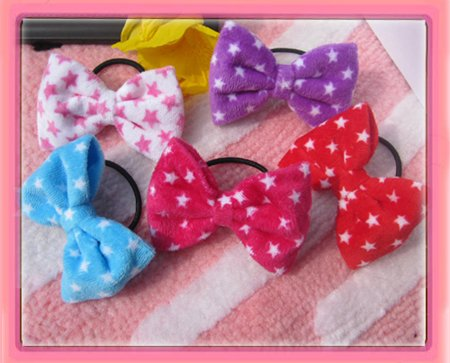 Free shipping!hair bow New velvet star hair bow hair holder can mix order(China (Mainland))