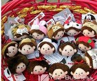 Baby doll mobile chain Monchichi version Mobile Strap Christmas present Dollhouse 50pcs/lots