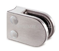 Stainless steel SS304 glass clamp B-002-042-8.76mm ,suit for 42.4mm tube and 8.76mm safety glass,Satin finish,size 63*45mm
