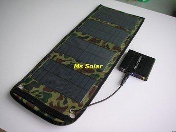 Free Shipping(DHL, FedEx, UPS) Ms Solar 6W Foldable Solar Panel, Portable Solar Panel !!Free Upgraded to 7 W output!!