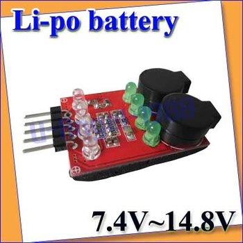 15pcs/lot Lipo Battery Low Voltage Buzzer Alarm 7.4V 11.1V 14.8V+Free shipping