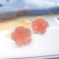 colorido simples moda brinco de prata gota de óleo 5 bc3126-4-12 folha de ameixa(China (Mainland))