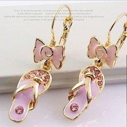 coreano moda chinelos dourados individuais pequenas gotas gotejamento intermitente luz bc3017-1-22 roxo brincos de diamante(China (Mainland))