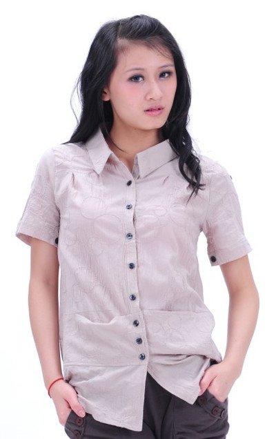 camisas de algodão casual flor de carro( roxo e branco e cinza claro) s022036(China (Mainland))