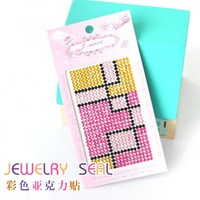 Free shipping acryl sticker for mobilephone beauty or nail beauty