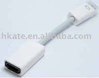 10pcs/lot 15cm Mini DVI to HDMI Adapter For iMac Macbook Brand NEW MN004 free shipping