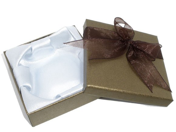 Gray Jewelry Bracelet&Watch Gift Boxes Cases Display 85x85x27mm(B06927x20)(China (Mainland))