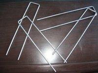 "galvanized sod staples, turf pins, ground, fabric staples, 8gauge,2"" x 8"",Wholesale, Retail"