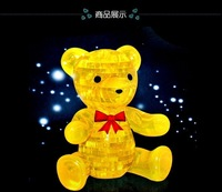 Free shipping 3D Crystal Bear Puzzle,Educational Toy Puzzle