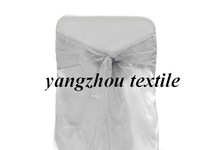 silver organza sash/organza chair cover sash/chair bow