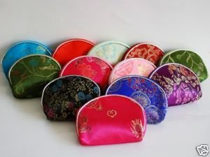 EMS Free Shipping Wholesale Mixed Color 100 PCS /lot Silk Purse Wallet Makeup MP3 Bag Xmas Lover Birthday Christmas Gift(China (Mainland))
