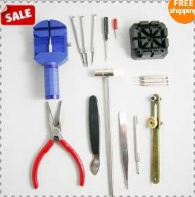 free shipping 16 Piece Watch Band Strap Repair Kit Tool Case Remove