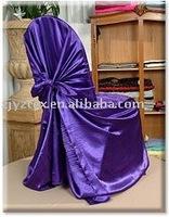 purple self tie chair cover/chair bag/banquet chair cover/wedding chair cover/spandex chair cover/pillowcase chair cover