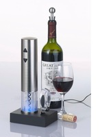 Free shipping Rechargeable Electric Wine Opener,only use 8 seconds to remove the cork,easy to use,high class wine opener
