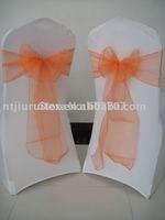 Orange Organza Sash for wedding,party,hotel...