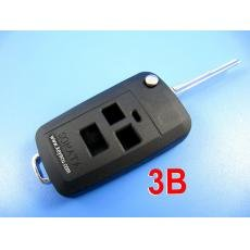 free shipping by hkp MOQ:1lot 5pcs/lot hyundai sonata flip remote key shell 3 button durable in use(China (Mainland))