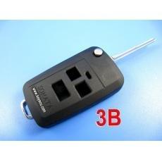 free shipping by hkp MOQ:1lot 5pcs/lot hyundai sonata flip remote key shell 3 button durable in use