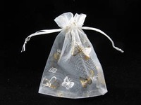 Free shipping wholesale 100 Organza Voile Gift Bags Wedding Supplies 9x12cm