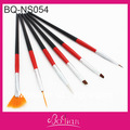 Free shipping 6pcs nail brush set/marble dotting/gel brush/ perfect design