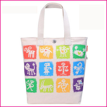 NEW DESIGN !!   RECYCLING CANVAS BAG WITH ANIMAL PRINTING