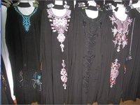 BZ0922018 Free Shipping new arrival black cotton islam women abaya
