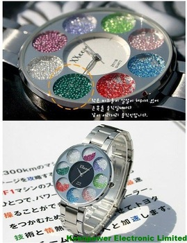 Hot Selling/Free shipping/1pc/lot/XXCOM BRAND NEW FULL STEEL FASHIONABLE LADY QUARTZ  WATCH