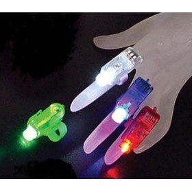 150pcs/lot laser finger beams led finger beams 4 colors Bar ornaments Children's toys fast home delivery(China (Mainland))