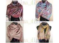 Pashmina Scarf Shawl Cashmere ponchos wrap Ladies Womens shawl Scarves 12PCS/LOT