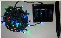 free shipping 100LED solar string lights,  solar Christmas Lights,Solar LED holiday lights, solar holiday string of flashing lig