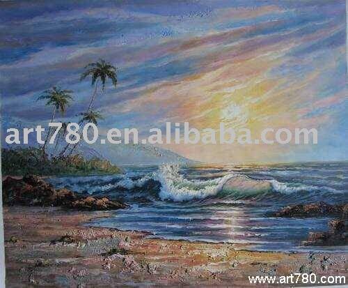 Pintura onda do mar pintura pintura a óleo personalizado atacado on line(China (Mainland))