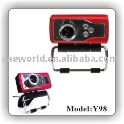 webcam,latest webcam,pc camera,computer accessory,driveless ,plug and play,fashion design,mini series,with 3 led lights,Y98(China (Mainland))