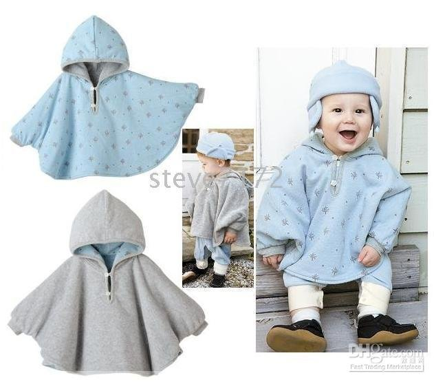 baby clothing ST-364A Baby ourterwear coats children cape sweaters outfits baby dress smock cloak(China (Mainland))