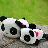 Two Sizes Stuffed Animal Toy/ Panda Bear Plush Toy Doll/Cute Pillow 2pcs/lot+Gift&Free Shipping