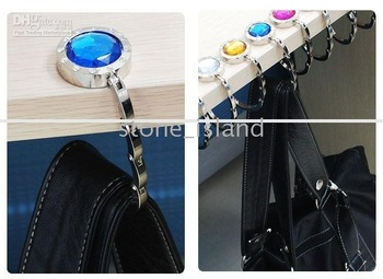 mix order 1pcs 7# Popular One Folding Hand Bag Purse Hook Hanger Holder For Lady And Women Handbag