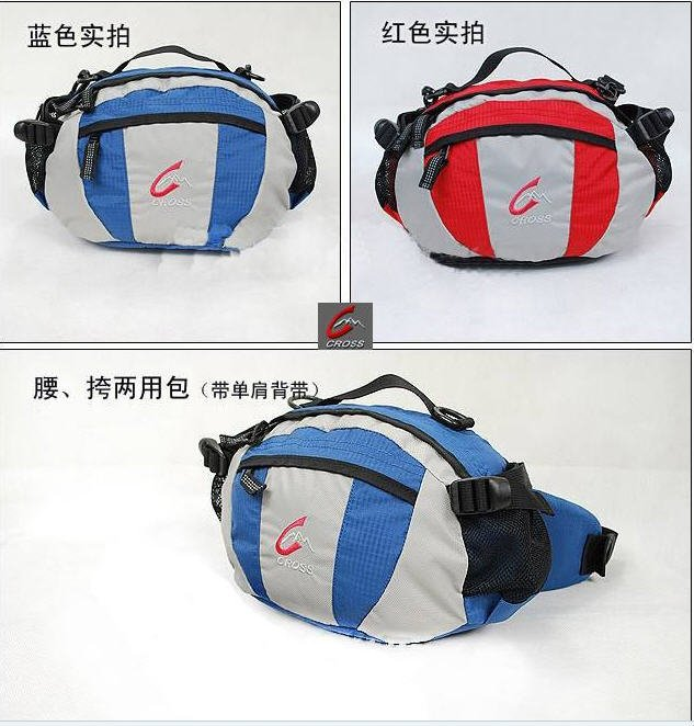 Free shipping waist bag/shoulder bag/ camera/air ticket/water bottle multi function/YKK zipper(China (Mainland))