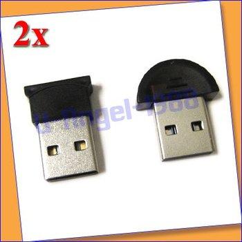 2x Mini USB 2.0 Bluetooth V2.0 EDR Dongle Wireless Adapter  +free shipping