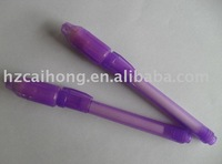 UV light pen-CH0813 invisible ink pen with built-in uv light