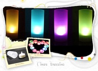 Free Shipping New Colorful Changeable LED Light Romantic Solid Electronic Candle Flicker Sensor Blow On / Off Acoustic Control