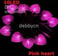 10LED 5ft PINK battery operated christmas light/ LED string light-HEART 20pcs/lot free shipping