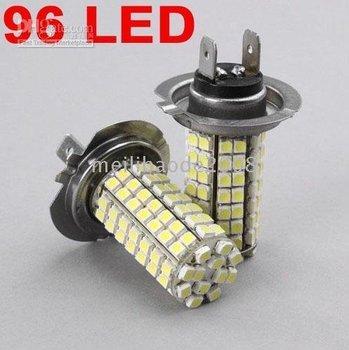 White SMD 96 LED 12V H7 Car Bulbs Light Lights Lamps 30pcs
