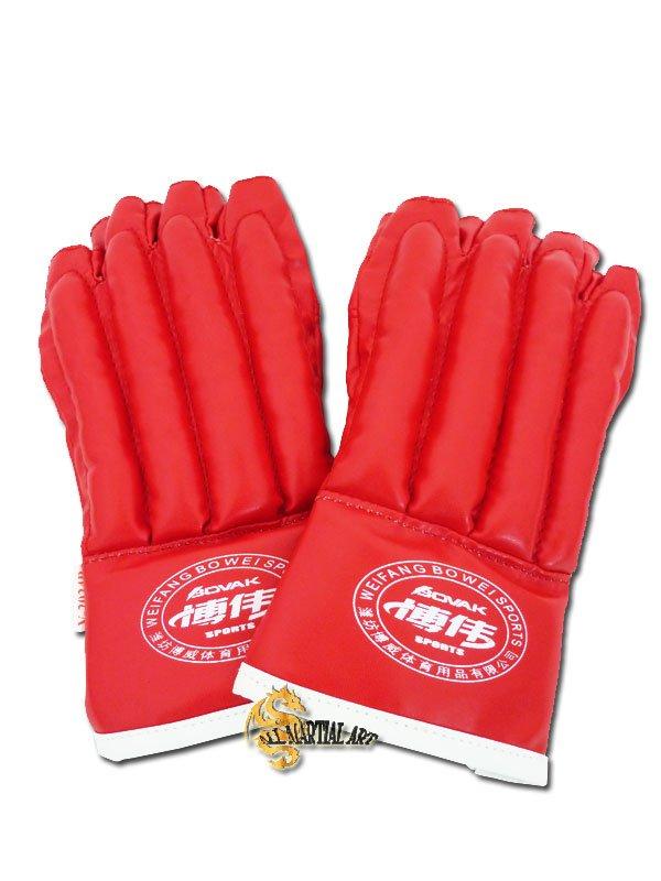 Free Shipping Wing Chun MMA Fingerless Punching Gloves Red Free size Pair !!(China (Mainland))