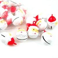 Free shipping, Wholesale 18pcs/lot Santa Head Jingle Bells Brass Christmas Crafts Beads