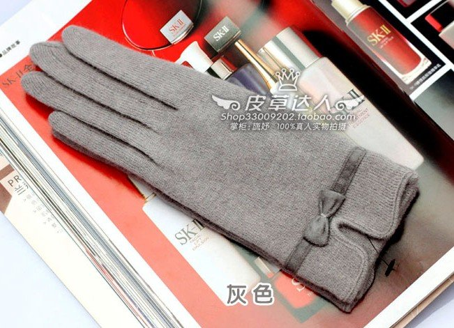 Fashion ! Butterfly knot wool Bow woman&#39;s glove 7 color in stock(China (Mainland))