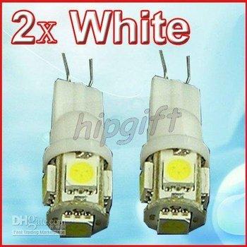 5-SMD White LED Car Signal Lights Bulbs 2x 194 2825
