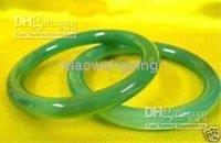 green jade bracelet cuff bangle(2pc) Pair real Chinese