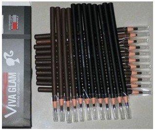 Waterproof multi-color eyebrow pencil,eye brow pencil,cosmetic pencil,24pcs/lot