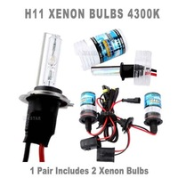 Freeshipping  H11 4300K/6000K Xenon Bulbs HID LAMP